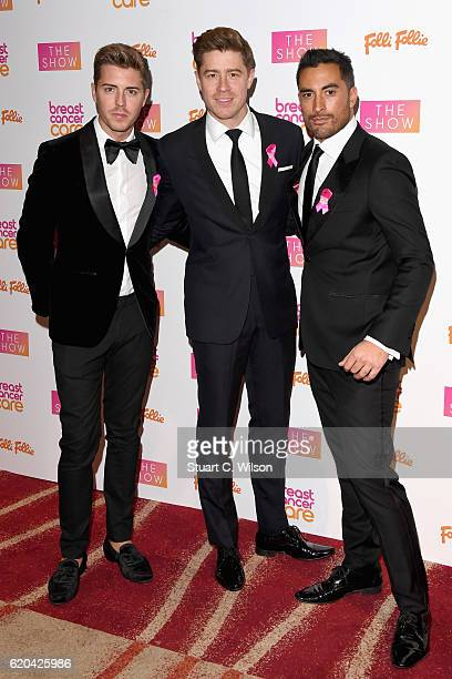Alfie Palmer Andrew Bourn and Sean Ryder Wolf of Jack Pack attend the Breast Cancer Care London Fashion Show in association with Folli Follie 2016 at...