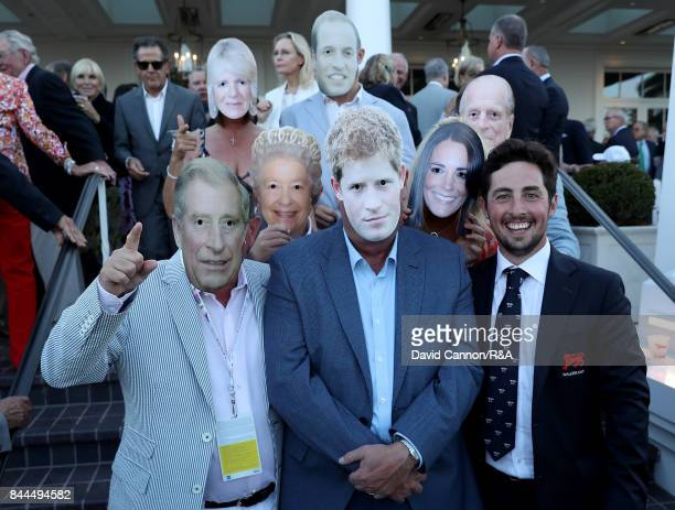 Alfie Plant of England and the Great Britain and Ireland Team poses with members of his family and friends for a fun picture during the Opening...