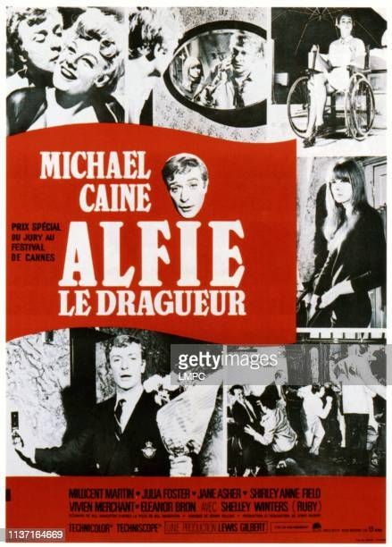 Michael Caine Shelley Winters Michael Caine Eleanor Bron center from left Michael Caine Jane Asher bottom left Michael Caine on French poster art 1966