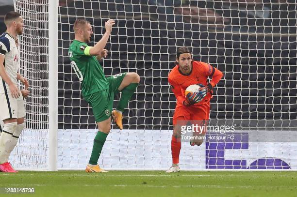 Alfie Whiteman of Tottenham Hotspur in action during the UEFA Europa League Group J stage match between Tottenham Hotspur and PFC Ludogorets Razgrad...