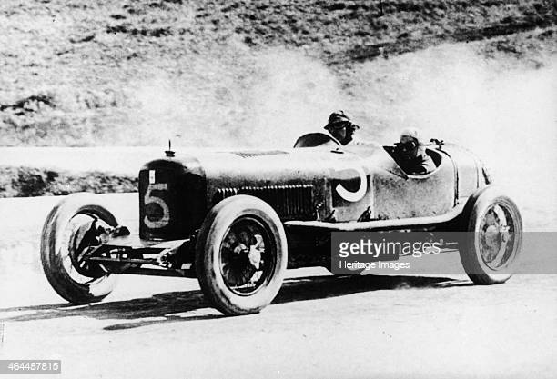Alfieri Maserati and Guerino Bertocchi in a Type 26 Maserati Targa Florio race Sicily 1926 Winners of the 15 litre class