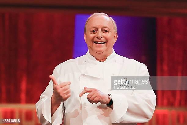 Alfons Schuhbeck attends 'Herbstblond Gottschalks grosse Geburtstagsparty' TV Show on May 18 2015 in Berlin Germany