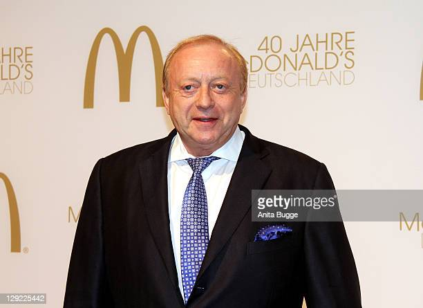 Alfons Schuhbeck attends the 'McDonalds Germany Celebrates 40th Birthday Gala' at the Tempelhof airport Berlin on October 14 2011 in Berlin Germany