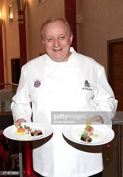 Alfons Schuhbeck during the Franz Roth Golf Cup gala evening in favour of Michael Roll Stiftung 'Tabaluga' on May 1 2015 in Bad Woerishofen Germany