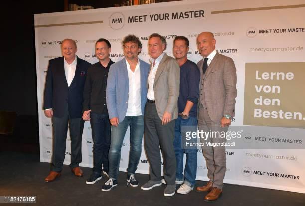 Alfons Schuhbeck Sebastian Fitzek Jonas Kaufmann Nico Hofmann Til Schweiger and Heiner Lauterbach at the launch event of Meet Your Master at Hotel...