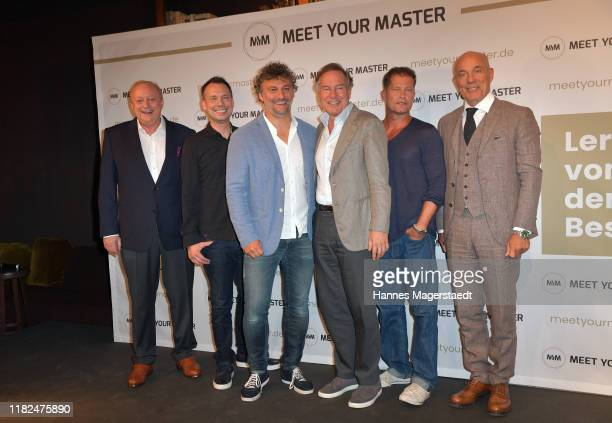 Alfons Schuhbeck Sebastian Fitzek Nico Hofmann Heiner Lauterbach Til Schweiger and Jonas Kaufmann at the launch event of Meet Your Master at Hotel...