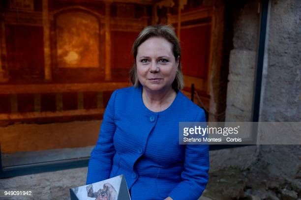 Alfonsina Russo Director of the Archaeological Park of the Colosseum on April 20 2018 in Rome Italy Presented to the press the House of Augustus and...