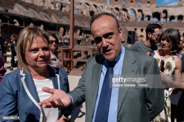 Alfonsina Russo Director of the Archaeological Park of the Colosseum and Alberto Bonisoli Minister for Cultural Heritage and Activities and Tourism...
