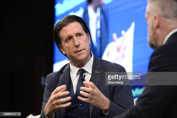 Alfonso Albaisa senior vice president for global design at Nissan Motor Co speaks during the Bloomberg Year Ahead summit in Tokyo Japan on Thursday...