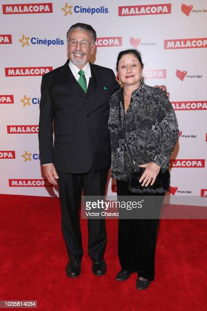 Alfonso Arau and Angelica Aragon attend the Malacopa Mexico City premiere at Cinepolis Plaza Carso on September 18 2018 in Mexico City Mexico