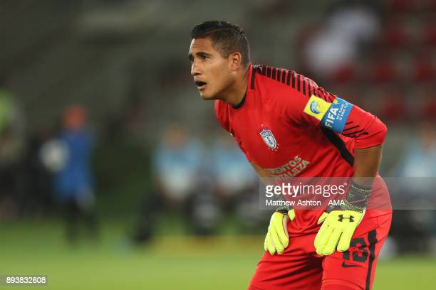 Alfonso Blanco of CF Pachuca in action during the FIFA Club World Cup UAE 2017 third place play off match between Al Jazira and CF Pachuca at Zayed...