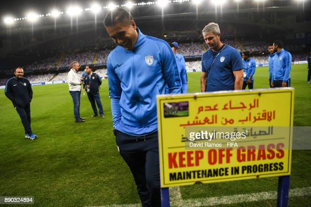 Alfonso Blanco of CF Pachuca visits the Hazza Bin Zayed stadium ahead of their semifinal match against Gremio FBPA on December 11 2017 in Al Ain...