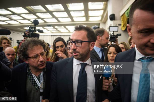 Alfonso Bonafede member of 5Star Movement talks about the first exit polls estimating the 5Star Movement as first Italian political party after the...