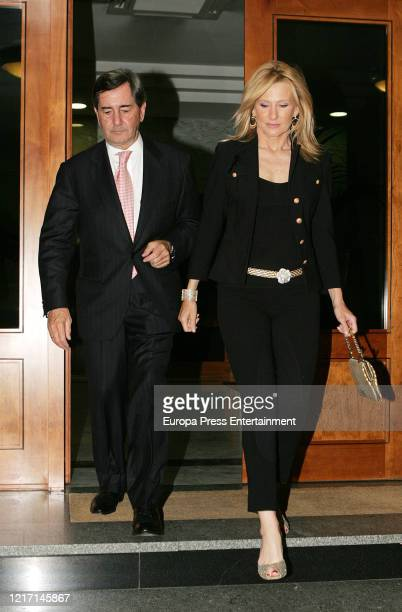 Alfonso Cortina and Miriam Lapique are seen on April 25, 2007 in Madrid, Spain.