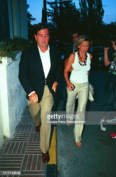 Alfonso Cortina and Miriam Lapique are seen on August 08, 2003 in Madrid, Spain.