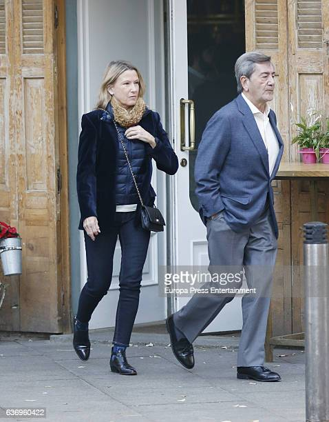 Alfonso Cortina and Miriam Lapique are seen on December 18 2016 in Madrid Spain