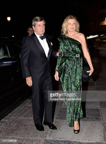 Alfonso Cortina and Miriam Lapique are seen on October 19, 2019 in Madrid, Spain.