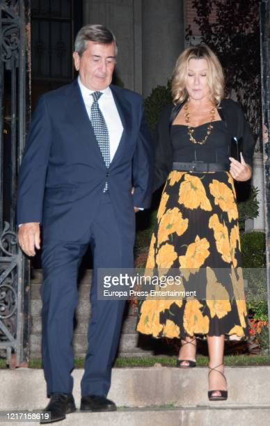 Alfonso Cortina and Miriam Lapique are seen on October 23, 2017 in Madrid, Spain.