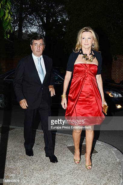Alfonso Cortina and Miriam Lapique attend a party at president of Airbus' home, Domingo Urena on June 29, 2012 in Madrid, Spain.