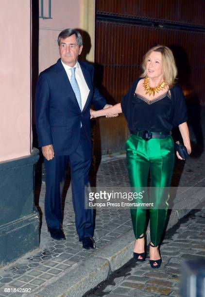 Alfonso Cortina and Miriam Lapique attend a party at the Italian Consulate during April's Fair on May 5 2017 in Seville Spain