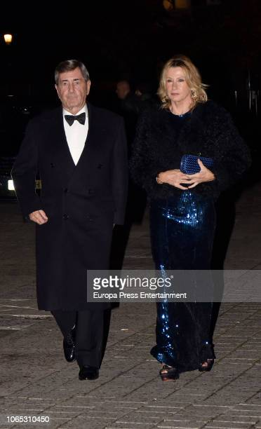 Alfonso Cortina and Miriam Lapique attend Luis Garcia Fraile's 40 birthday at Royal Theatre on November 24 2018 in Madrid Spain