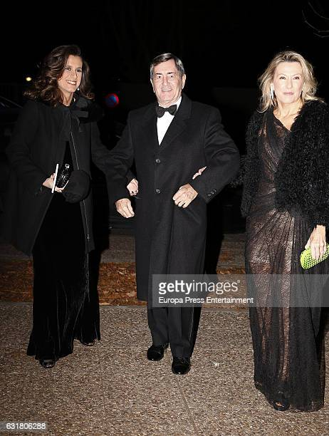 Alfonso Cortina and Miriam Lapique attend the 54th birthday party of the USA Ambassador James Costos at Museo del Traje on January 14 2017 in Madrid...