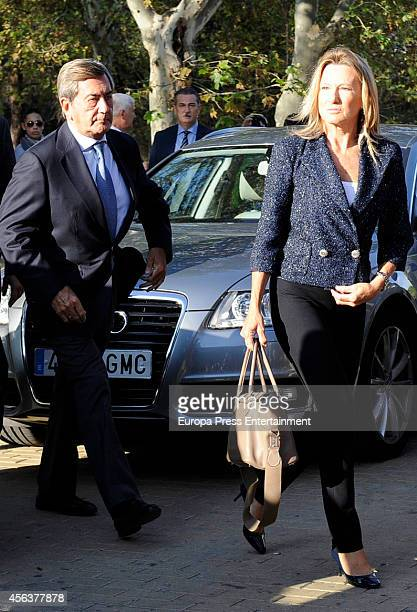 Alfonso Cortina and Miriam Lapique attend the funeral chapel for Miguel Boyer minister of Economy Treasury and Commerce from 1982 to 1985 at San...