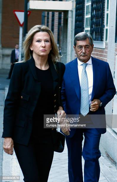 Alfonso Cortina and Miriam Lapique attend the funeral for Crista of Bavaria who died last July in Madrid at San Agustin Church on September 17 2014...