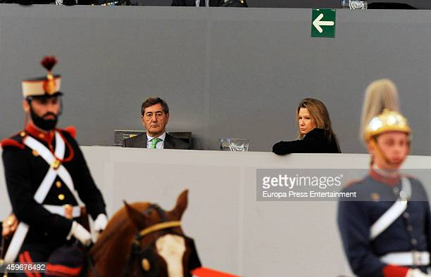 Alfonso Cortina and Miriam Lapique attend the opening of 2014 Madrid Horse Week on November 27, 2014 in Madrid, Spain.