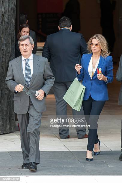 Alfonso Cortina and Miriam Lapique attend the opening of the painting exhibition 'The Bosch' at El Prado Museum on May 30 2016 in Madrid Spain