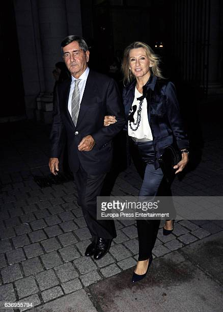 Alfonso Cortina and Miriam Lapique attend the premiere of the opera 'Norma' at Royal Theatre on October 20 2016 in Madrid Spain