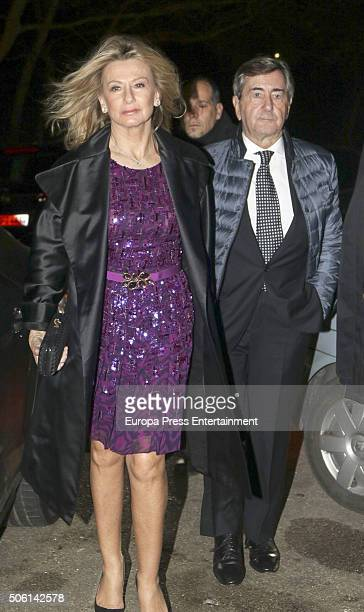 Alfonso Cortina and Miriam Lapique attend the wedding of Cynthia Rossi and Benjamin Rouget on December 18, 2015 in Paris, France.