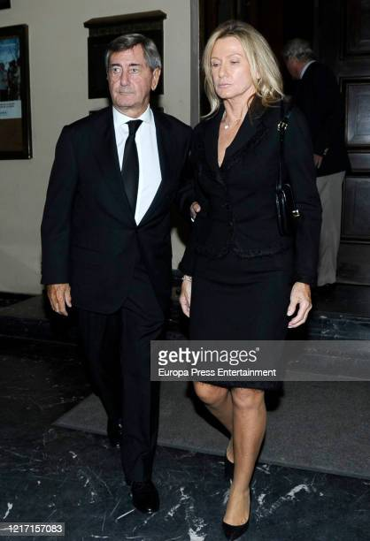 Alfonso Cortina and Miriam Lapique on September 21, 2015 in Madrid, Spain.