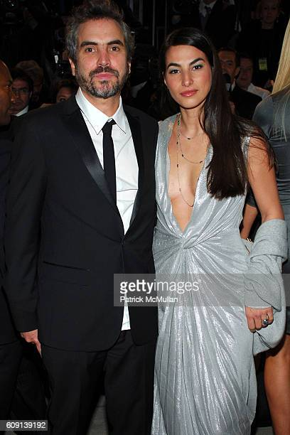 Alfonso Cuarón and Annalisa Bugliani attend VANITY FAIR Oscar Party at Morton's on February 25 2007 in Los Angeles CA
