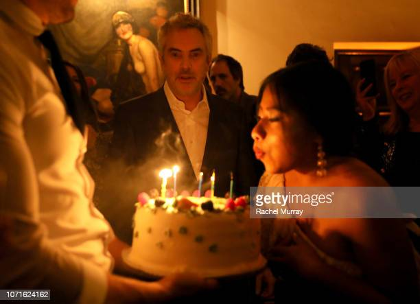 Alfonso Cuarón and Yalitza Aparicio attend the Netflix Roma Premiere at the Egyptian Theatre on December 10 2018 in Hollywood California