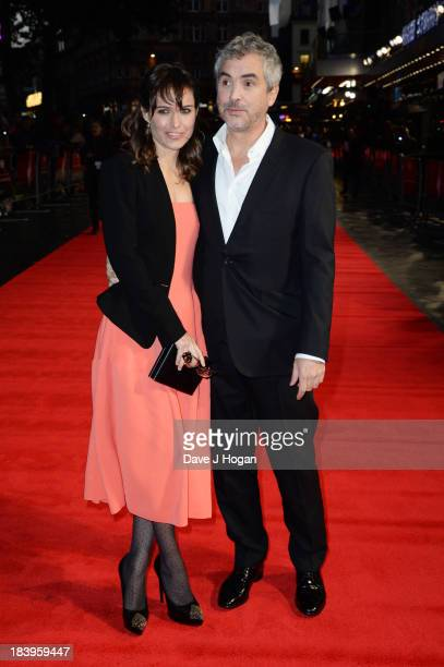 Alfonso Cuarón attends the premiere of 'Gravity' during the 57th BFI London Film Festival at The Odeon Leicester Square on October 10 2013 in London...