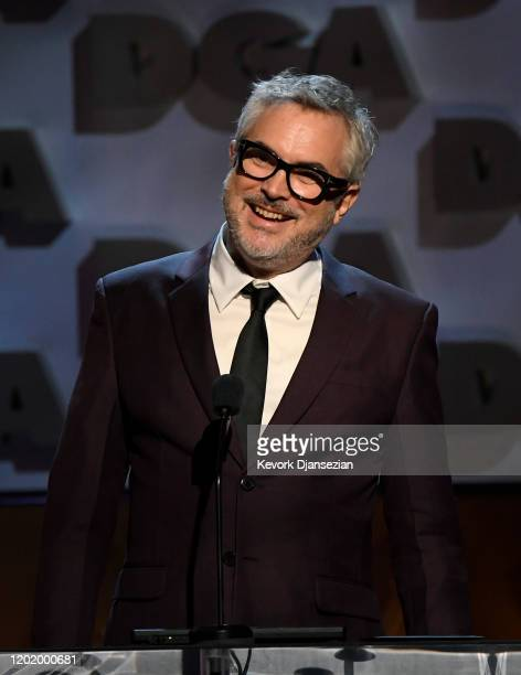 Alfonso Cuarón speaks onstage during the 72nd Annual Directors Guild Of America Awards at The Ritz Carlton on January 25, 2020 in Los Angeles,...