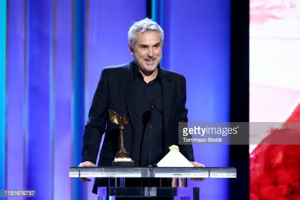 "Alfonso Cuaron accepts Best International Film for ""Roma"" onstage during the 2019 Film Independent Spirit Awards on February 23 2019 in Santa Monica..."