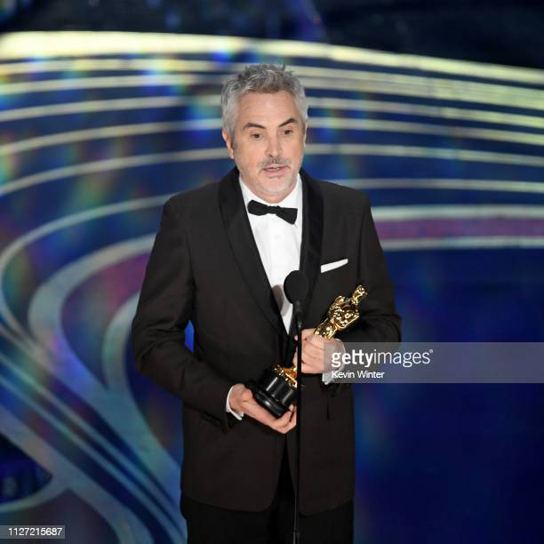 Alfonso Cuaron accepts the Cinematography award for #39Roma#39 onstage during the 91st Annual Academy Awards at Dolby Theatre on February 24 2019 in...