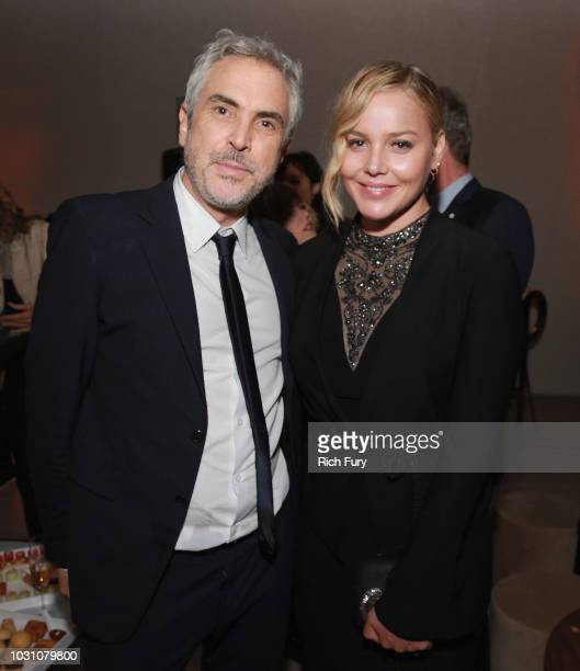 Alfonso Cuaron and Abbie Cornish attend the after party for the 'ROMA' red carpet premiere on September 10 2018 in Toronto Canada
