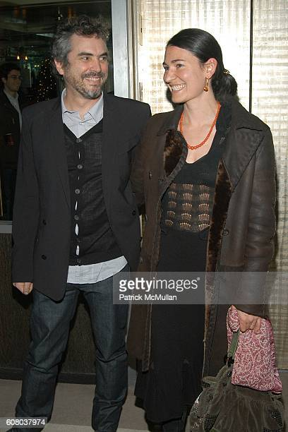 Alfonso Cuaron and Annalisa Bugliani attend THE CINEMA SOCIETY GQ after party for CHILDREN OF MEN at Soho Grand Penthouse on December 18 2006 in New...