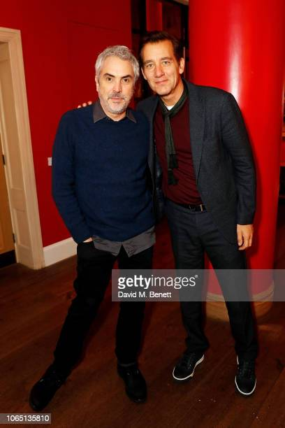 Alfonso Cuaron and Clive Owen attend ROMA Screening hosted by Clive Owen with special guest Alfonso Cuaron QA at The Ham Yard Hotel on November 25...
