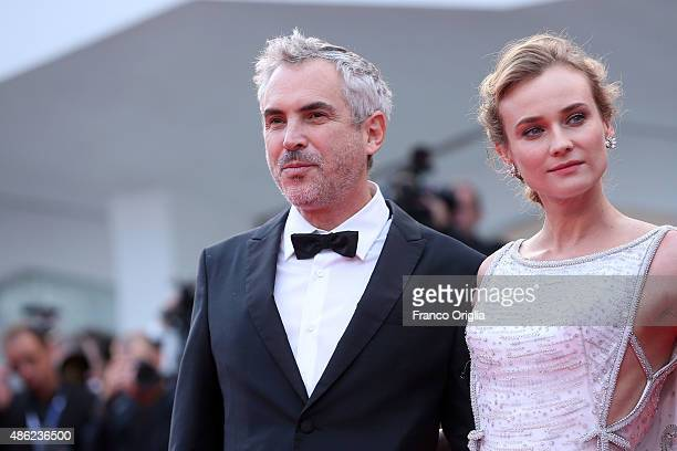 Alfonso Cuaron and Diane Kruger attend the opening ceremony and premiere of 'Everest' during the 72nd Venice Film Festival on September 2 2015 in...