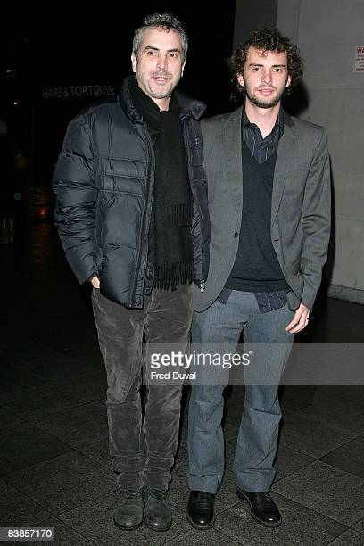 Alfonso Cuaron and Jonas Cuaron arrive at the premiere of 'Ano Una' at the Curzon Renoir on November 29 2008 in London England