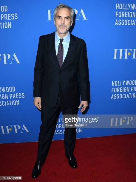Alfonso Cuaron arrives at the Hollywood Foreign Press Association's Grants Banquet at The Beverly Hilton Hotel on August 9 2018 in Beverly Hills...