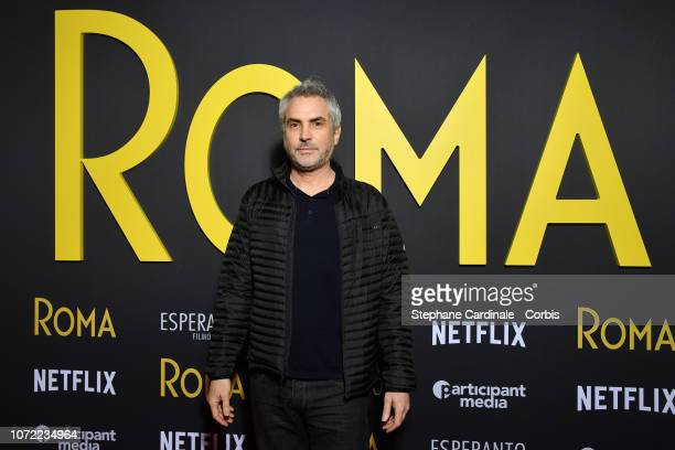 """Alfonso Cuaron attends """"Roma"""" Paris Premiere at Cinema Max Linder on December 12, 2018 in Paris, France."""