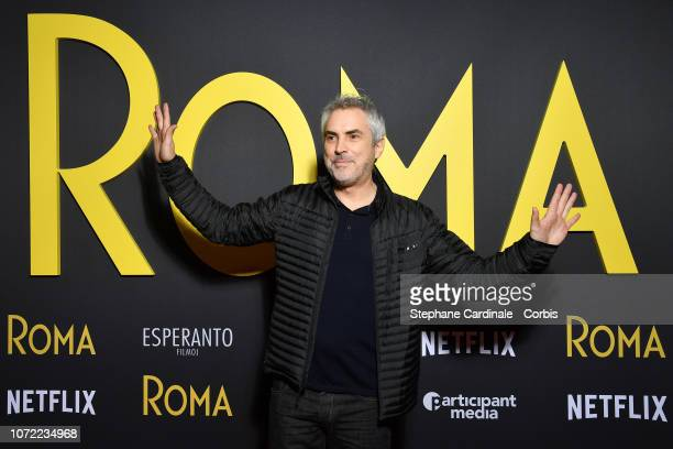 Alfonso Cuaron attends Roma Paris Premiere at Cinema Max Linder on December 12 2018 in Paris France