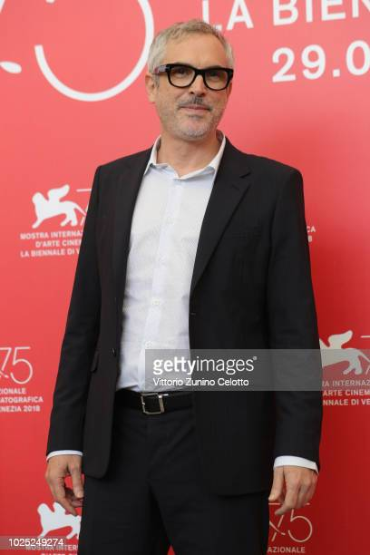 Alfonso Cuaron attends 'Roma' photocall during the 75th Venice Film Festival at Sala Casino on August 30 2018 in Venice Italy
