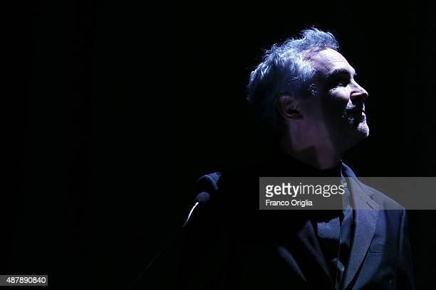 Alfonso Cuaron attends the closing ceremony during the 72nd Venice Film Festival on September 12 2015 in Venice Italy