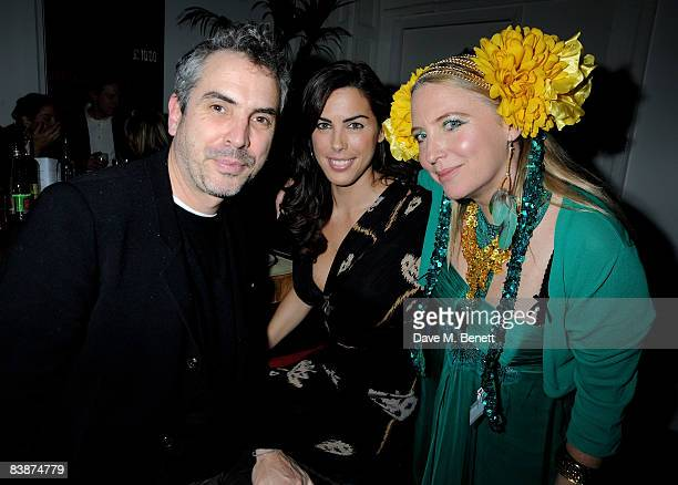 Alfonso Cuaron Jessica de Rothschild and Katrine Boorman attend The Special Dinner in support of The Warrior Programme at Obika on December 1 2008 in...